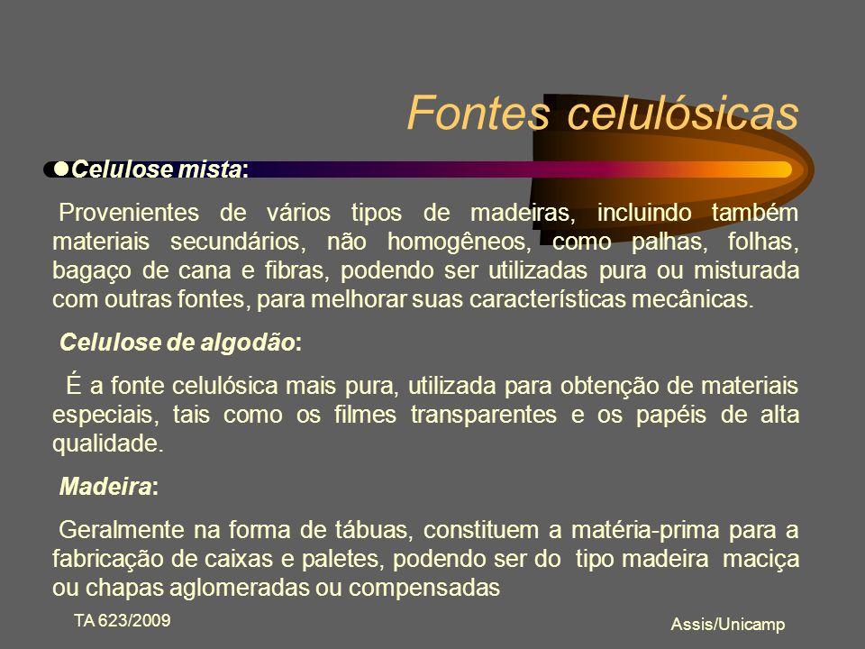Fontes celulósicas Celulose mista: