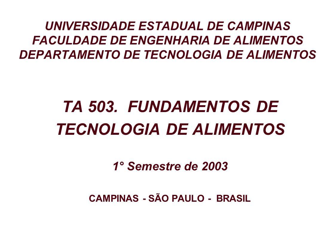 TECNOLOGIA DE ALIMENTOS CAMPINAS - SÃO PAULO - BRASIL