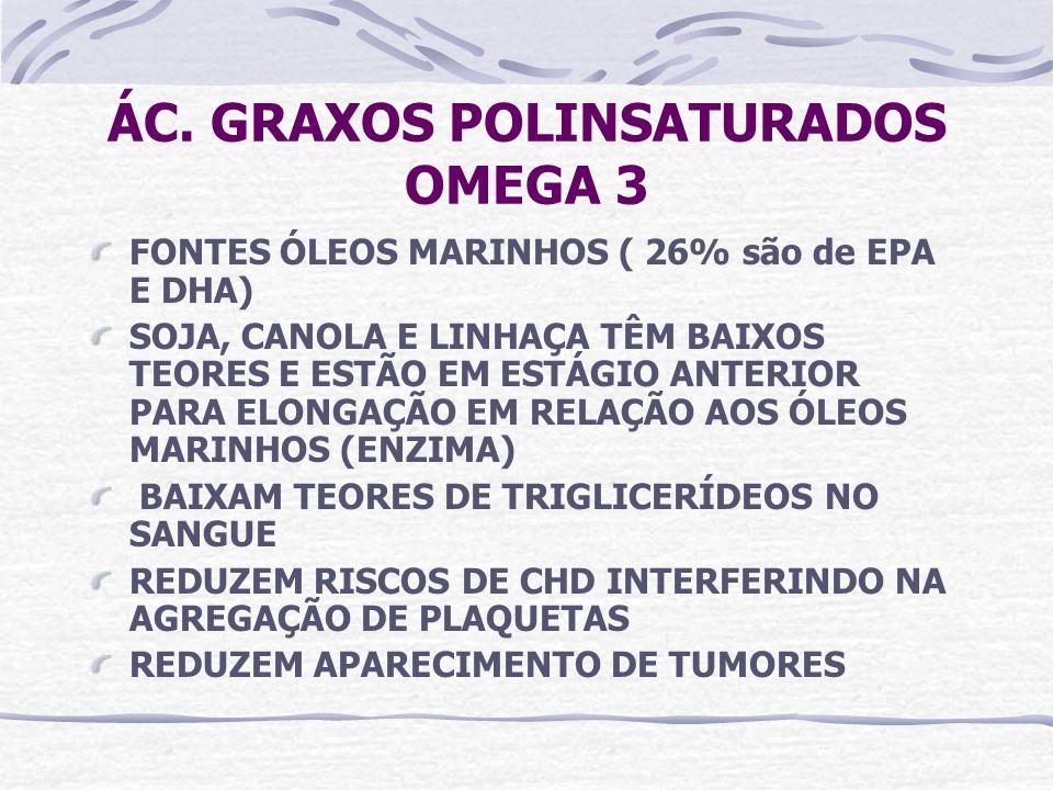 ÁC. GRAXOS POLINSATURADOS OMEGA 3