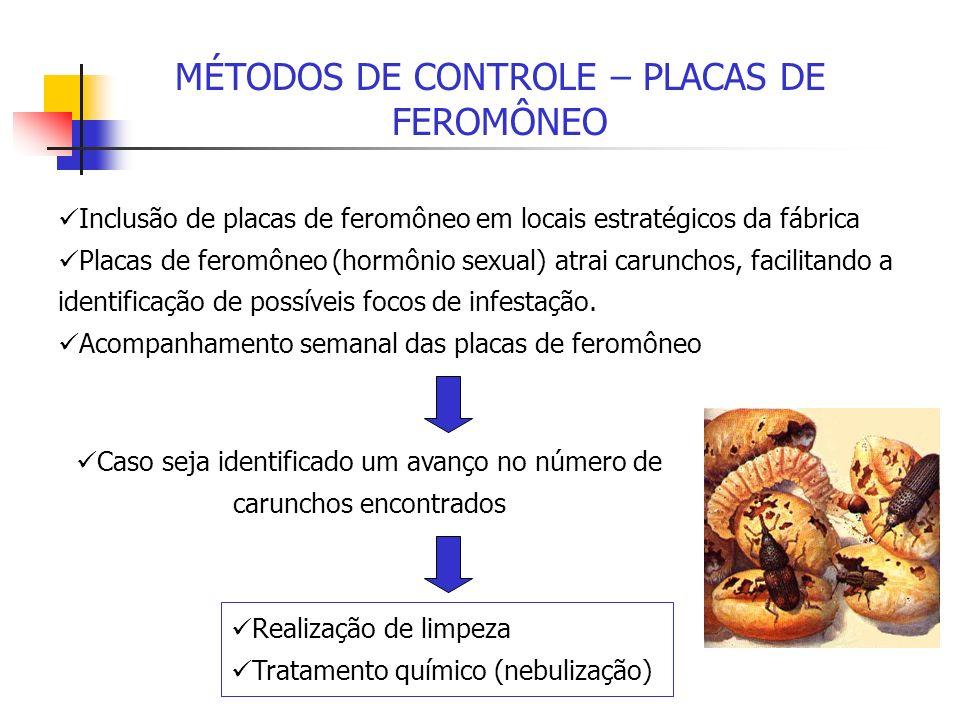MÉTODOS DE CONTROLE – PLACAS DE FEROMÔNEO