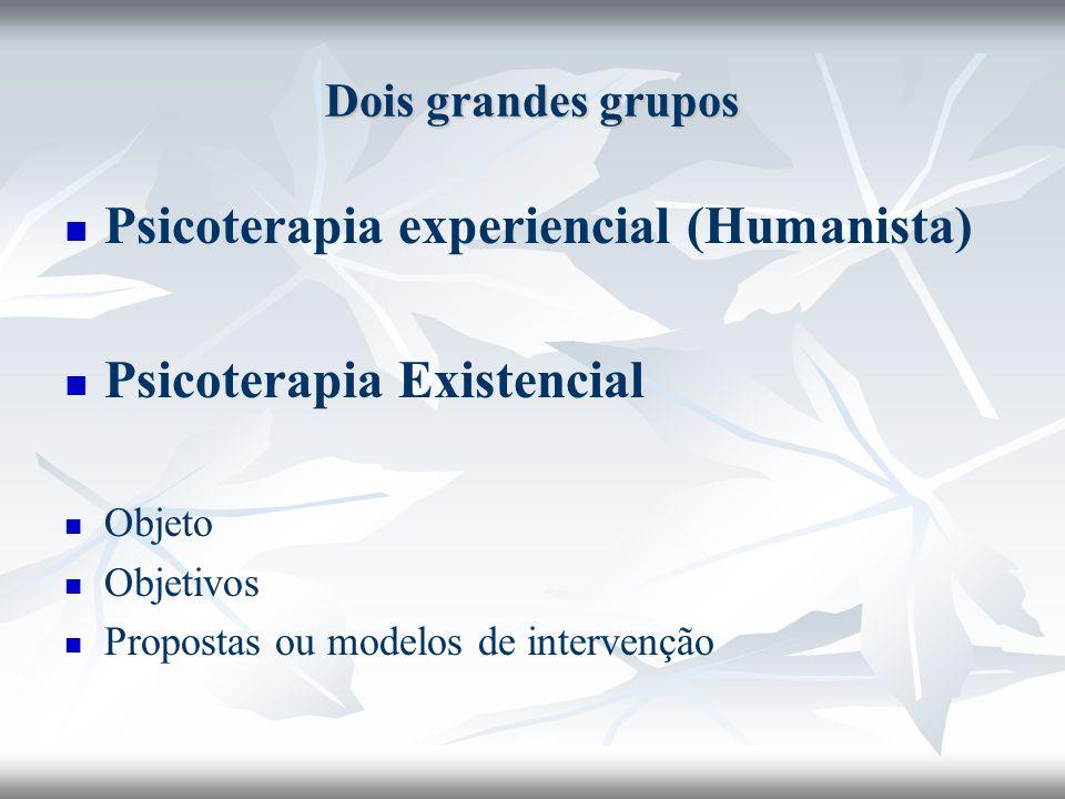 Psicoterapia experiencial (Humanista) Psicoterapia Existencial