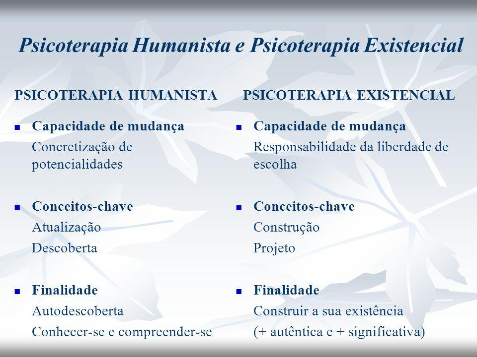 Psicoterapia Humanista e Psicoterapia Existencial