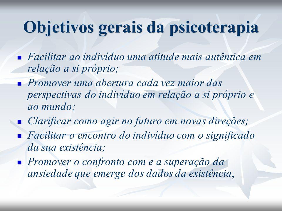 Objetivos gerais da psicoterapia