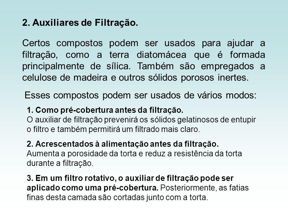 2. Auxiliares de Filtração.