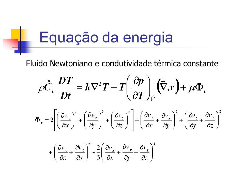 Fluido Newtoniano e condutividade térmica constante