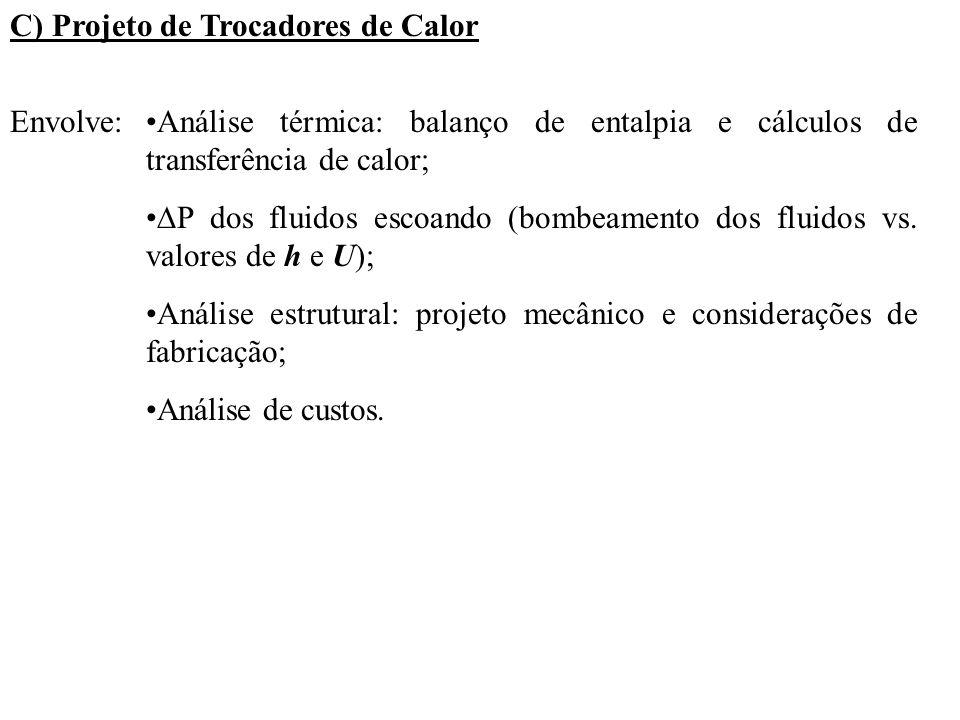 C) Projeto de Trocadores de Calor