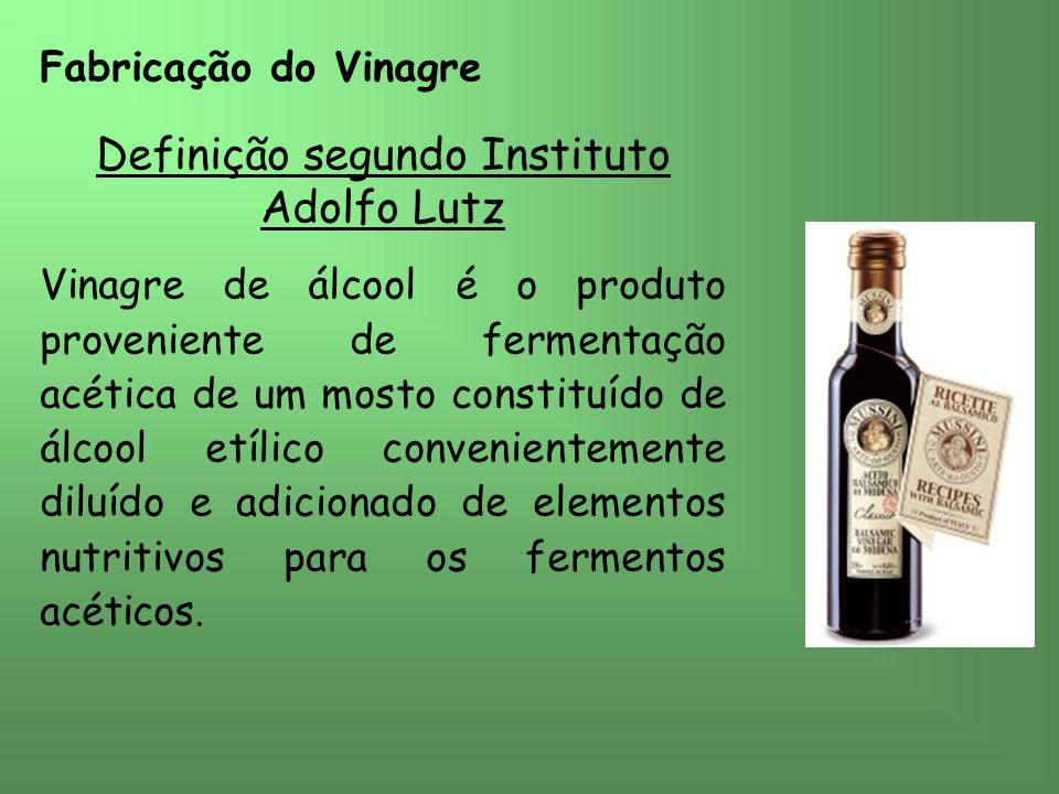 Definição segundo Instituto Adolfo Lutz