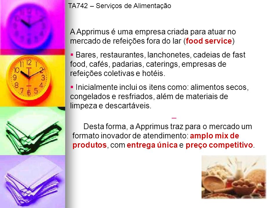 TA742 – Serviços de Alimentação