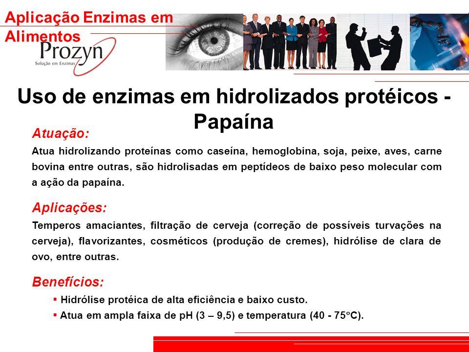 Uso de enzimas em hidrolizados protéicos - Papaína