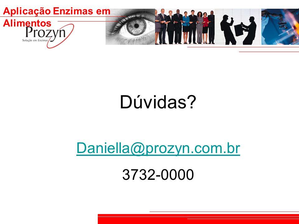 Dúvidas Daniella@prozyn.com.br 3732-0000