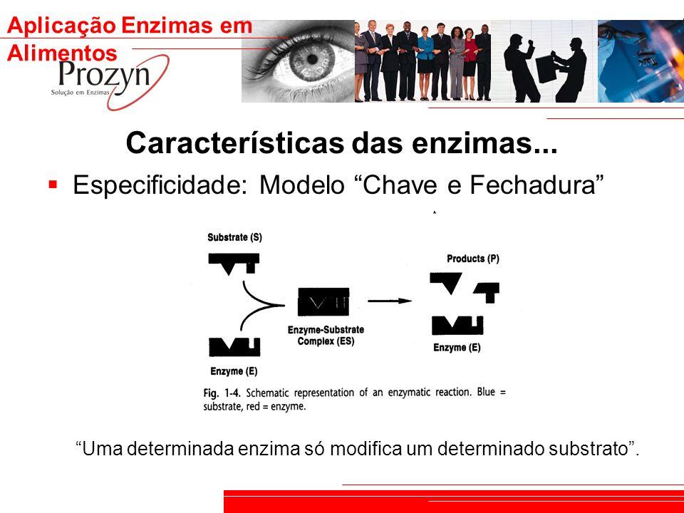 Características das enzimas...