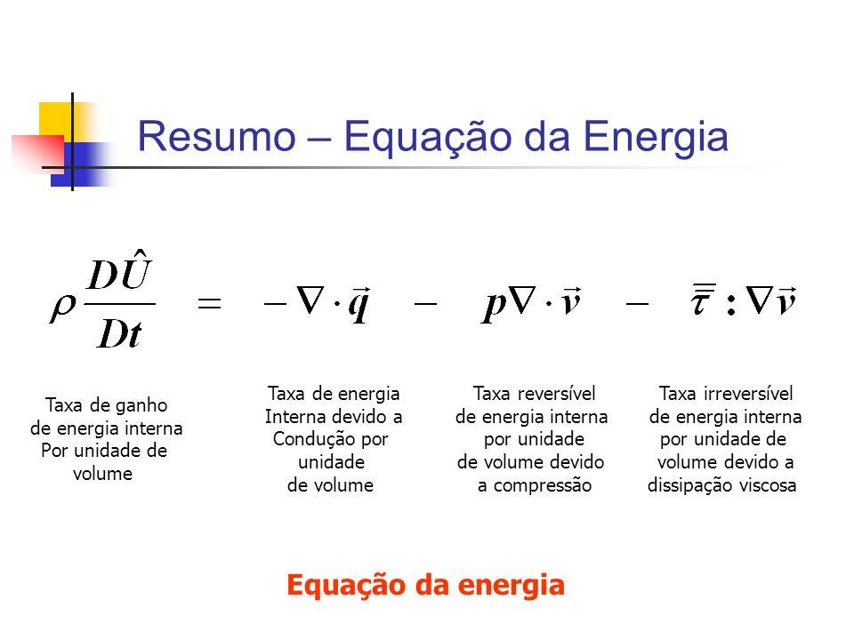 Resumo – Equação da Energia