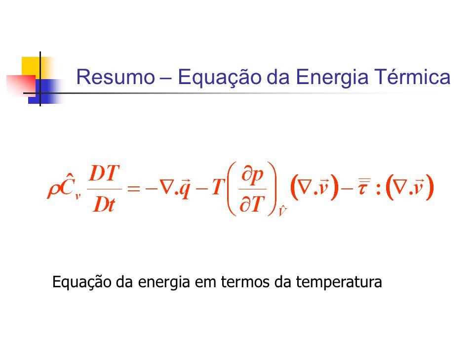 Resumo – Equação da Energia Térmica