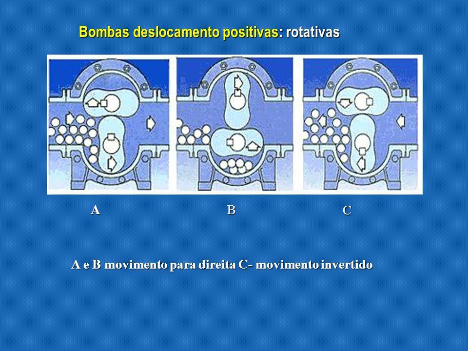 Bombas deslocamento positivas: rotativas
