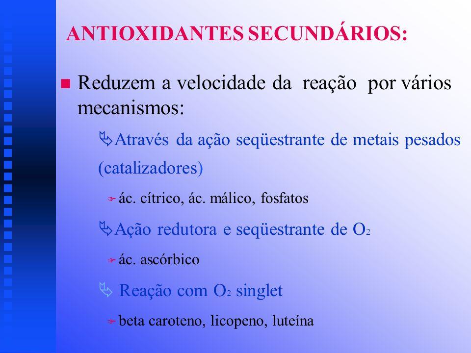 ANTIOXIDANTES SECUNDÁRIOS: