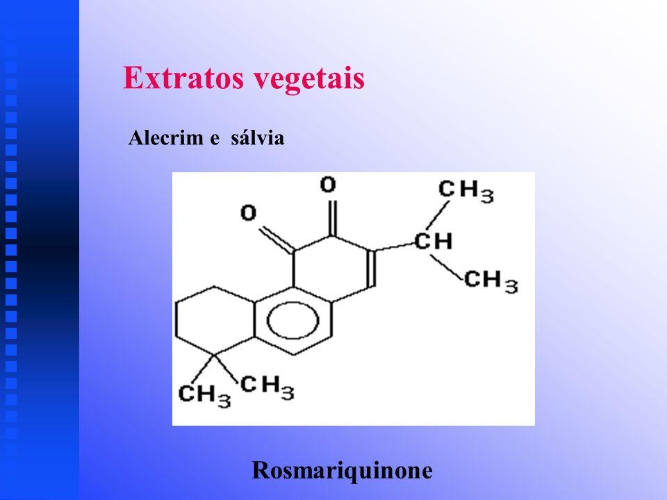 Extratos vegetais Alecrim e sálvia Rosmariquinone