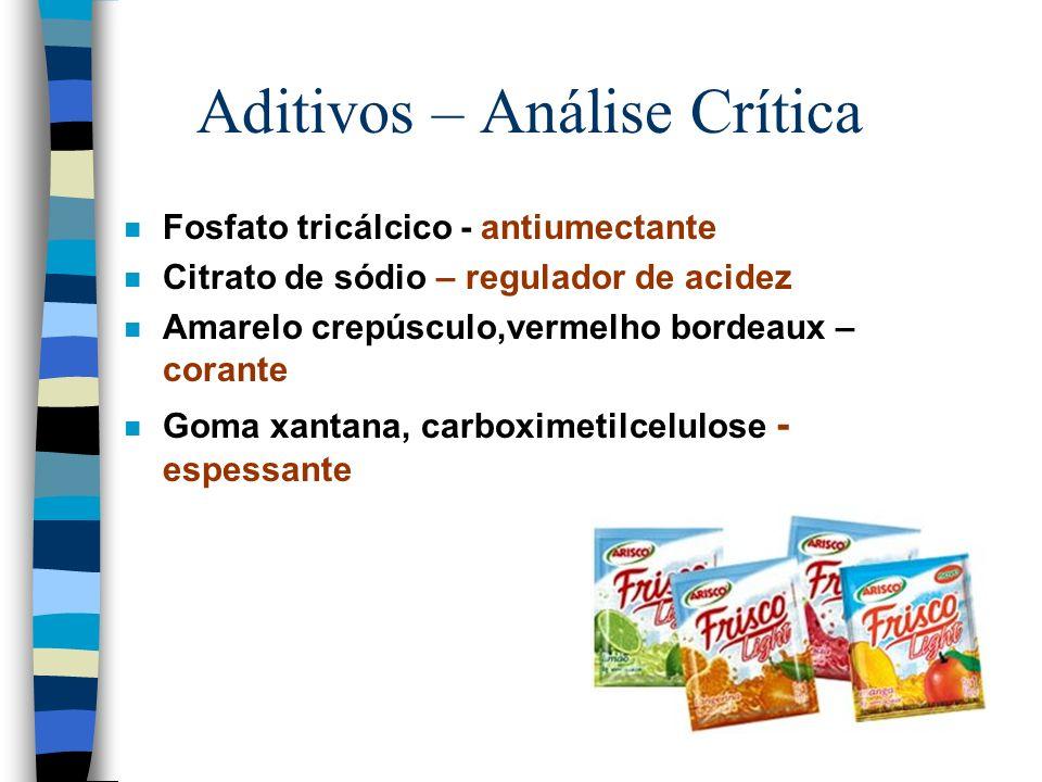 Aditivos – Análise Crítica
