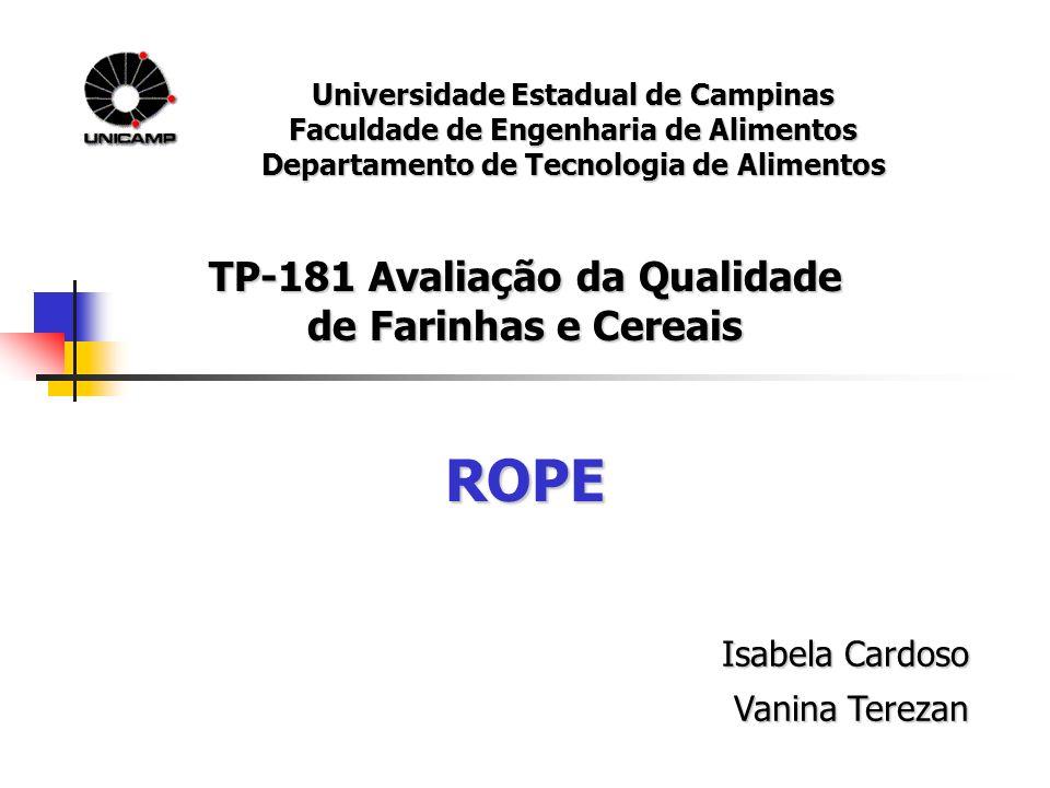 ROPE TP-181 Avaliação da Qualidade de Farinhas e Cereais