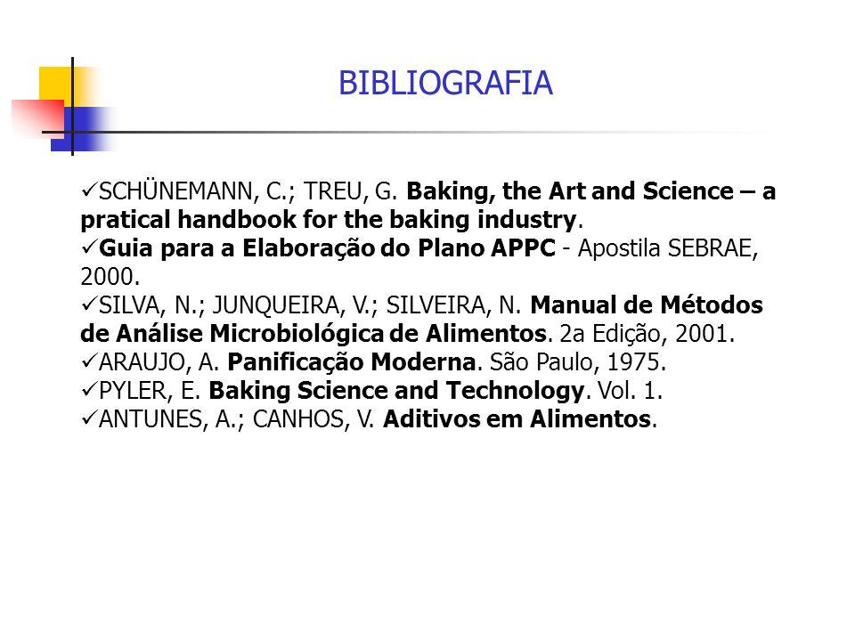 BIBLIOGRAFIASCHÜNEMANN, C.; TREU, G. Baking, the Art and Science – a pratical handbook for the baking industry.