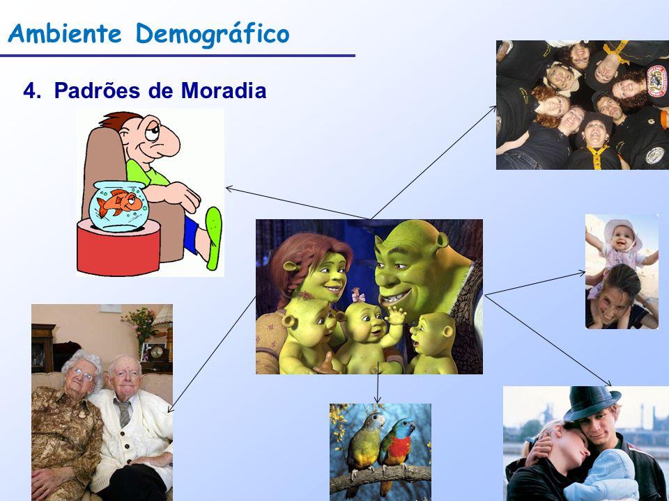 Ambiente Demográfico 4. Padrões de Moradia
