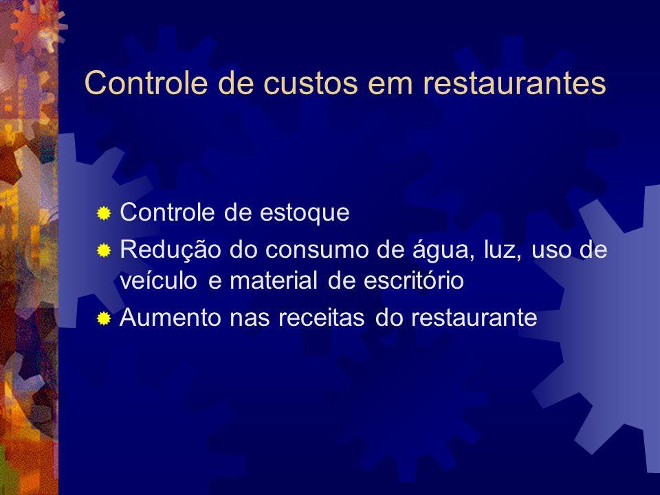 Controle de custos em restaurantes