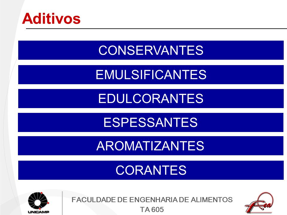 Aditivos CONSERVANTES EMULSIFICANTES EDULCORANTES ESPESSANTES
