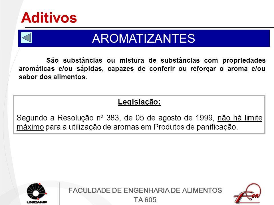 Aditivos AROMATIZANTES Legislação: