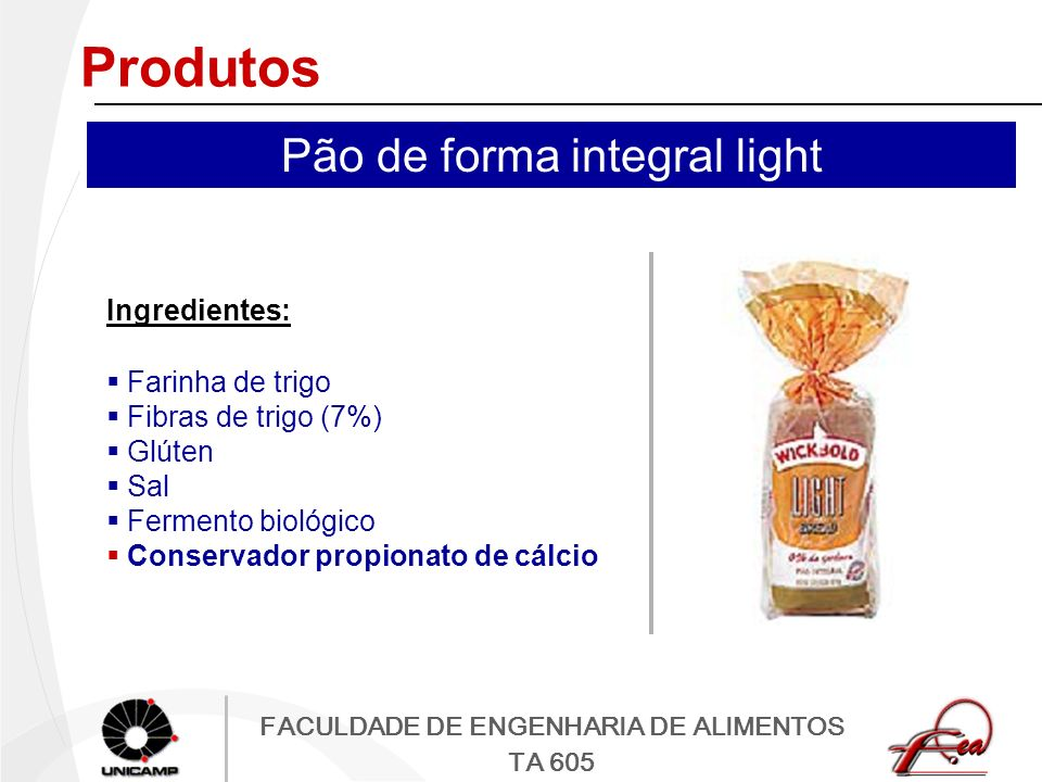 Pão de forma integral light