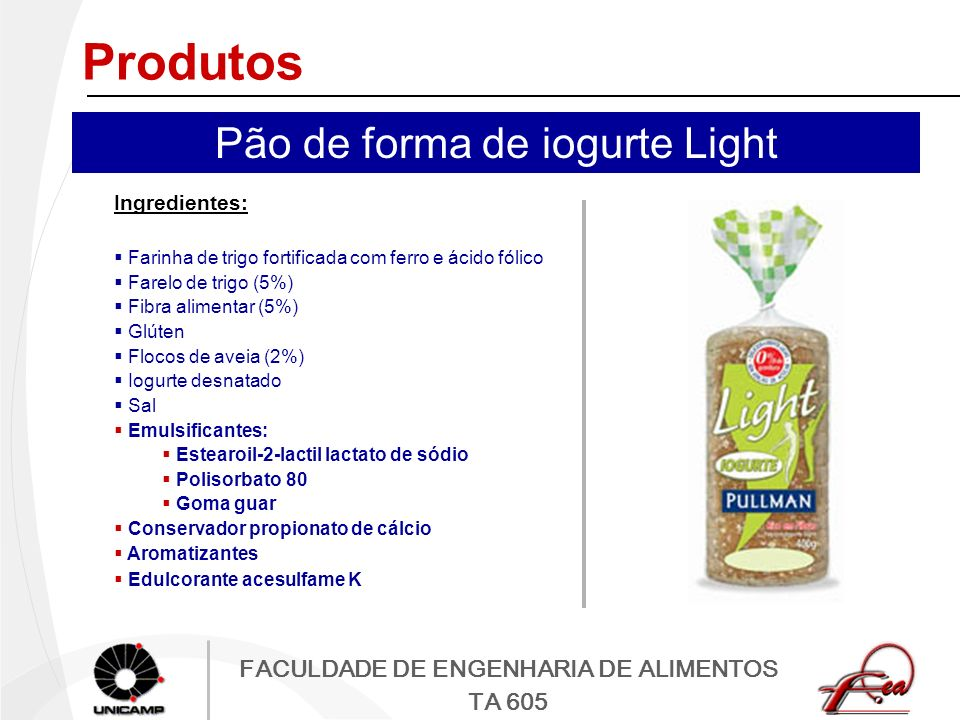 Pão de forma de iogurte Light