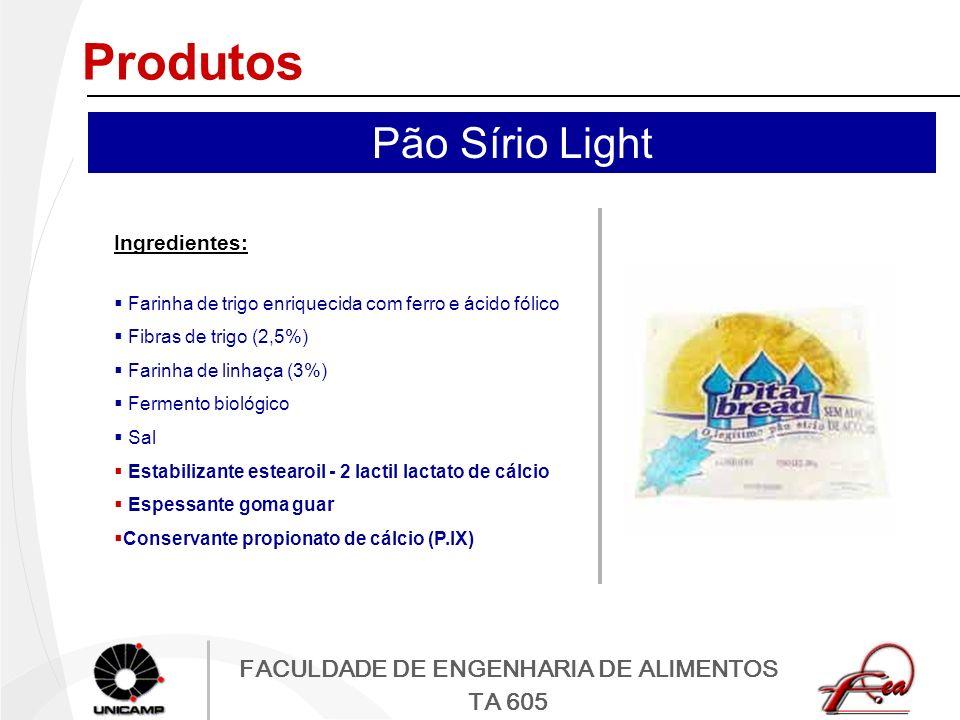 Produtos Pão Sírio Light Ingredientes: