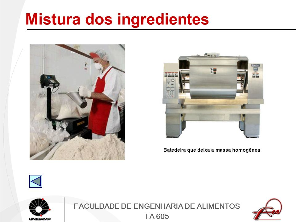 Mistura dos ingredientes