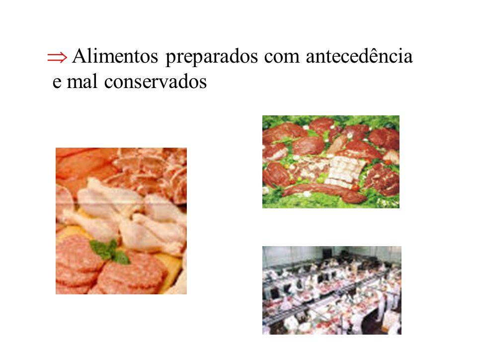  Alimentos preparados com antecedência