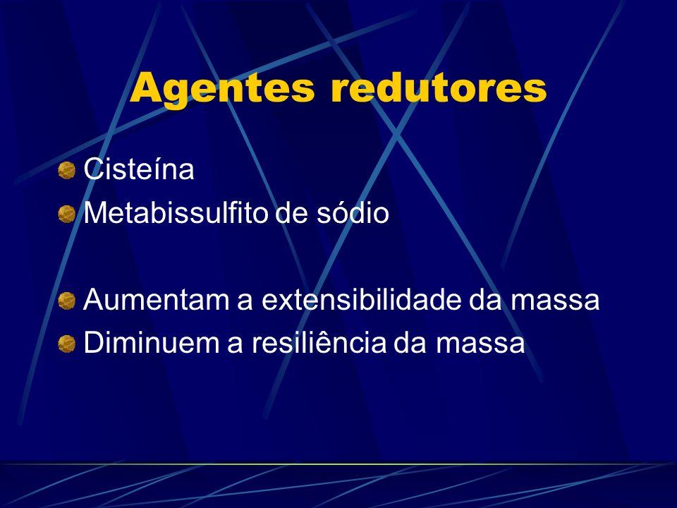Agentes redutores Cisteína Metabissulfito de sódio
