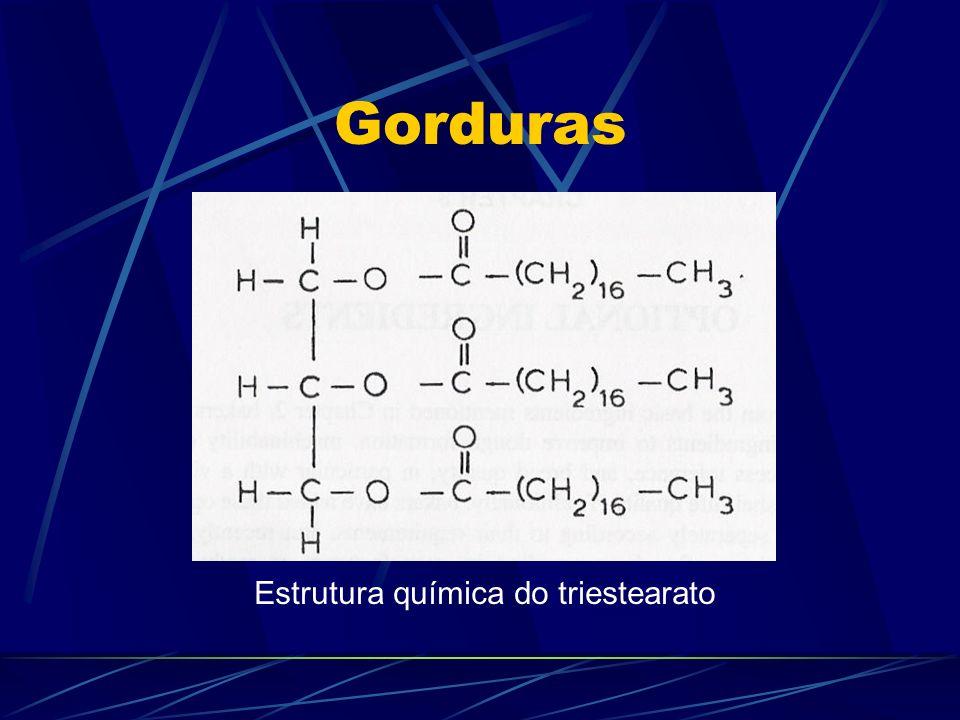 Gorduras Estrutura química do triestearato