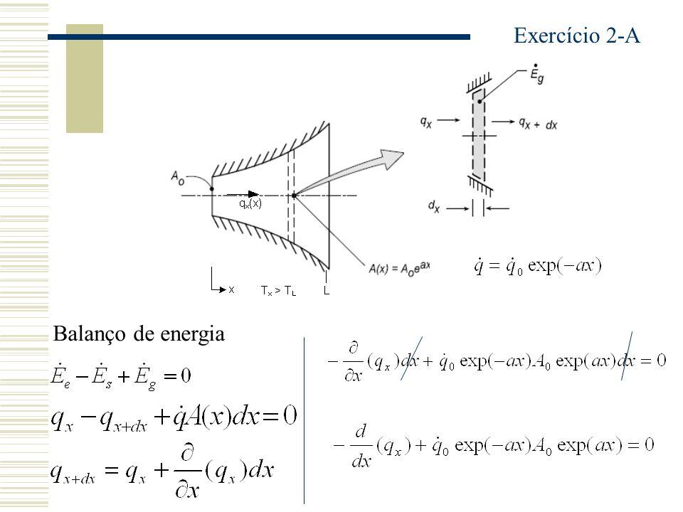 Exercício 2-A Balanço de energia
