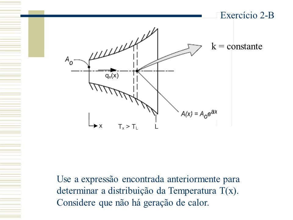Exercício 2-B k = constante.