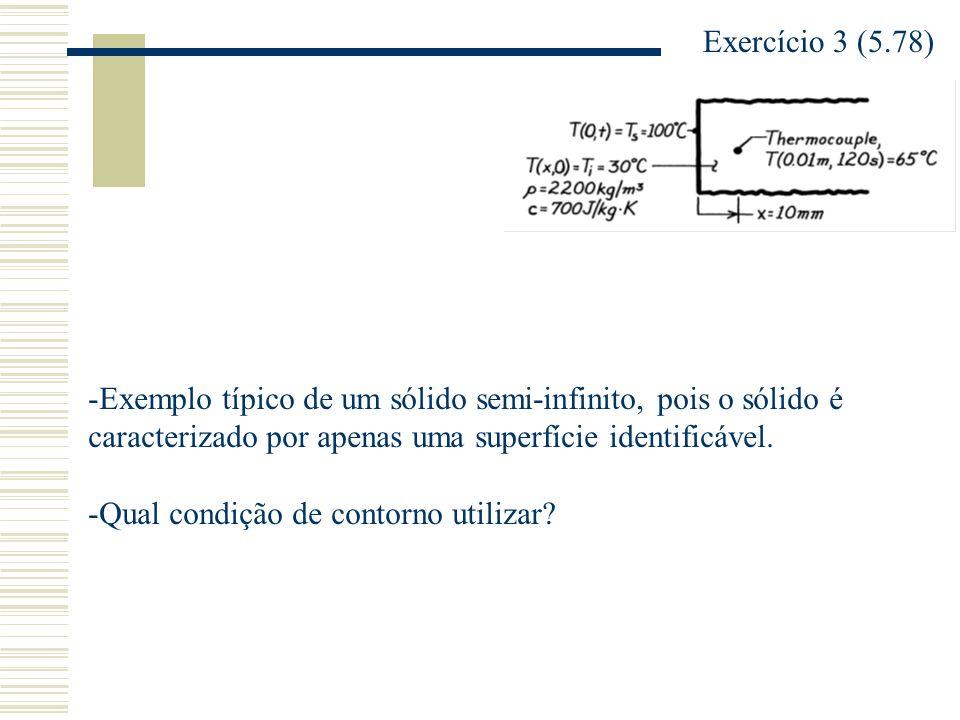 Exercício 3 (5.78) Exemplo típico de um sólido semi-infinito, pois o sólido é caracterizado por apenas uma superfície identificável.