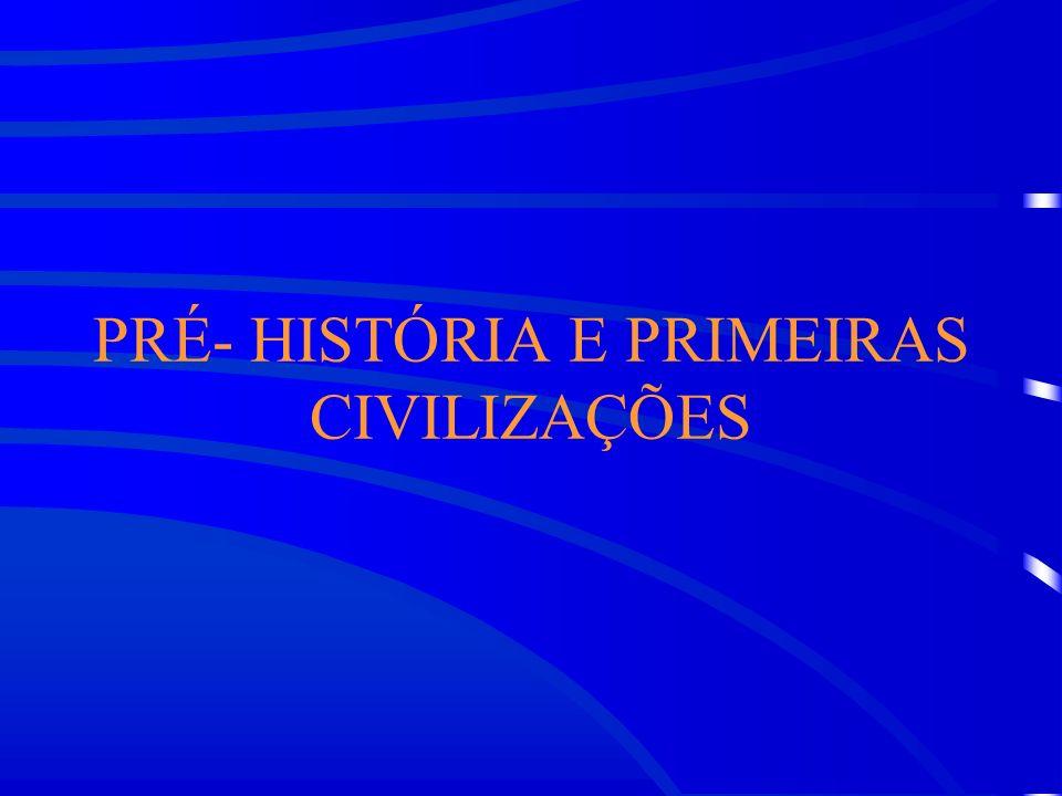 PRÉ- HISTÓRIA E PRIMEIRAS CIVILIZAÇÕES