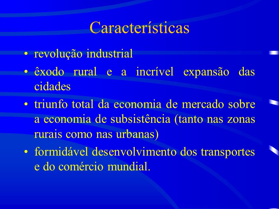 Características revolução industrial