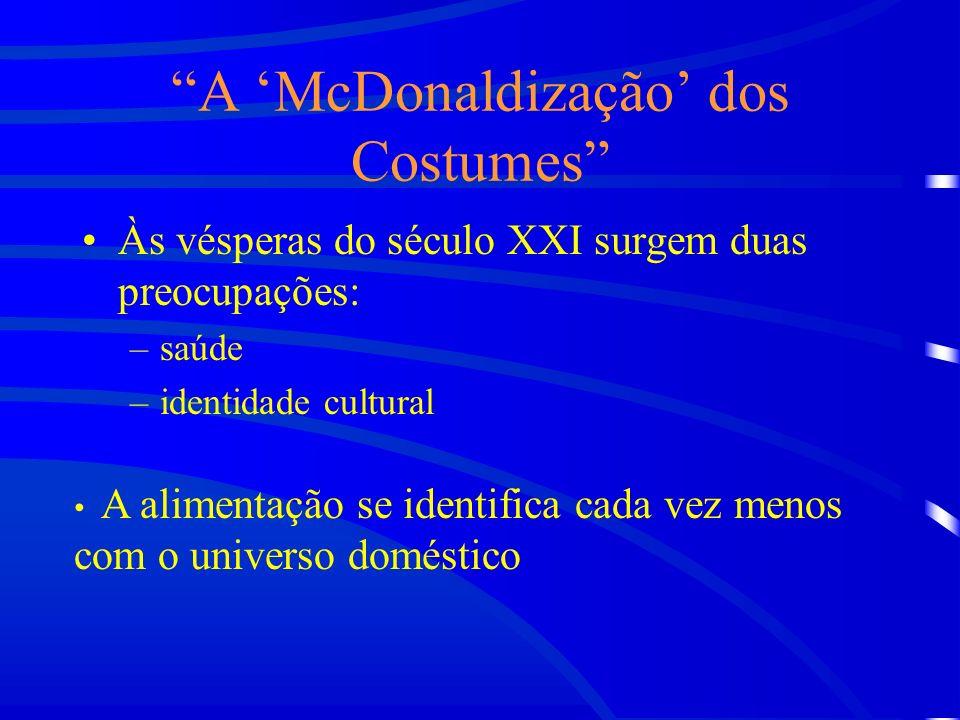 A 'McDonaldização' dos Costumes