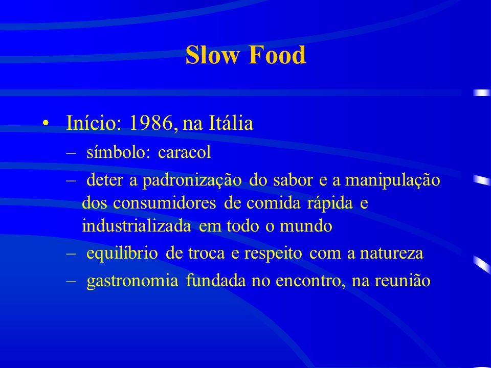 Slow Food Início: 1986, na Itália símbolo: caracol