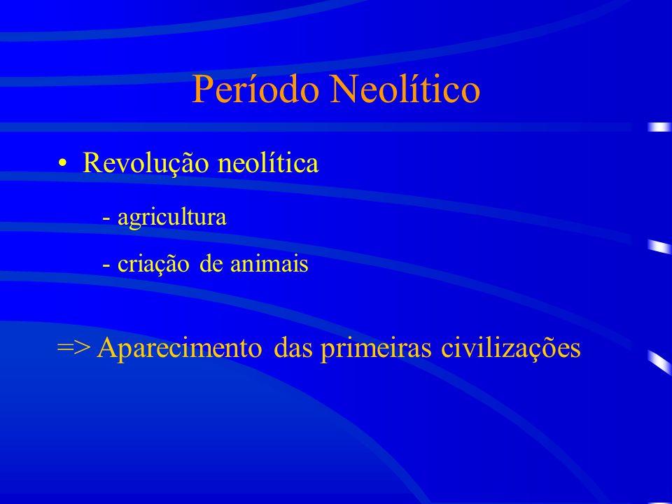 Período Neolítico Revolução neolítica