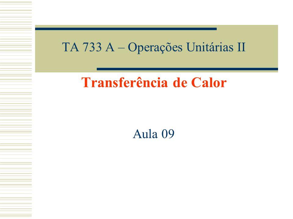 TA 733 A – Operações Unitárias II Transferência de Calor