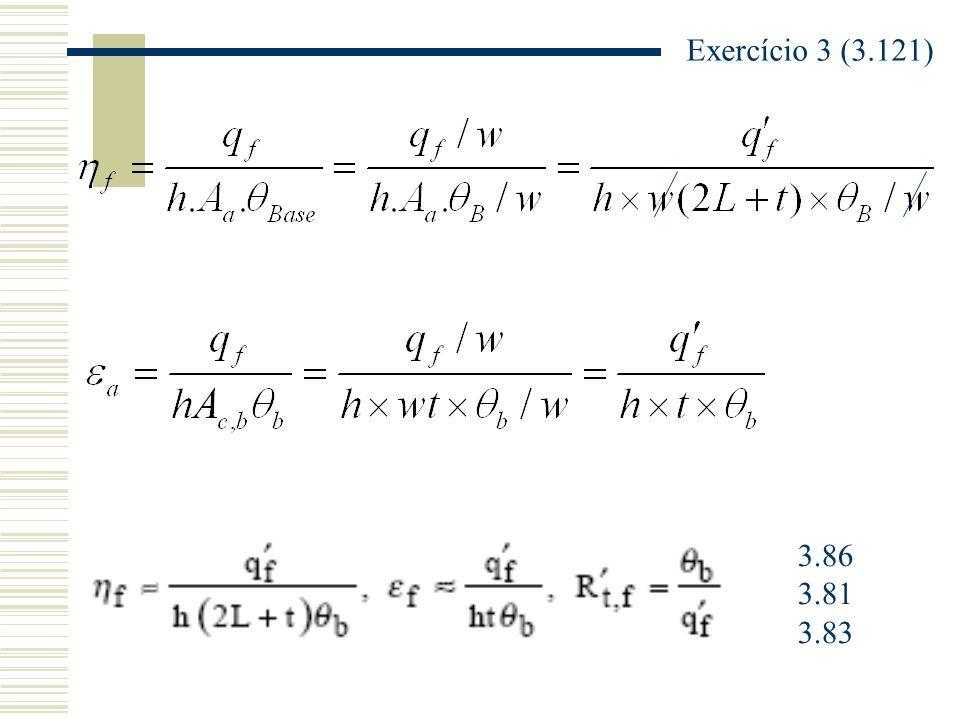 Exercício 3 (3.121) 3.86 3.81 3.83