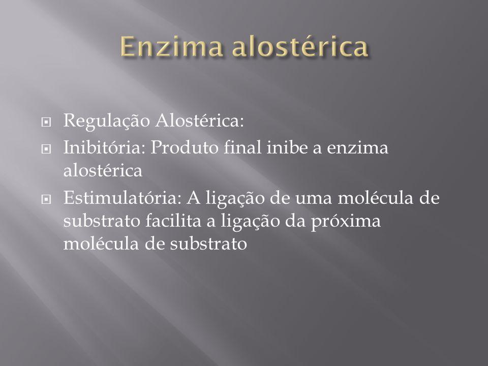 Enzima alostérica Regulação Alostérica: