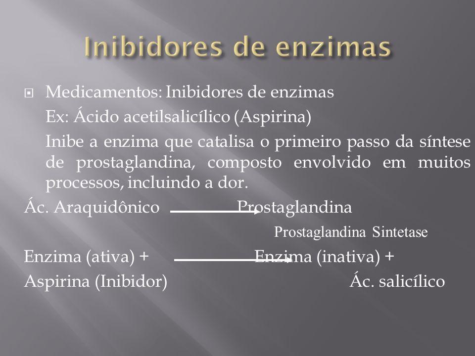 Inibidores de enzimas Medicamentos: Inibidores de enzimas