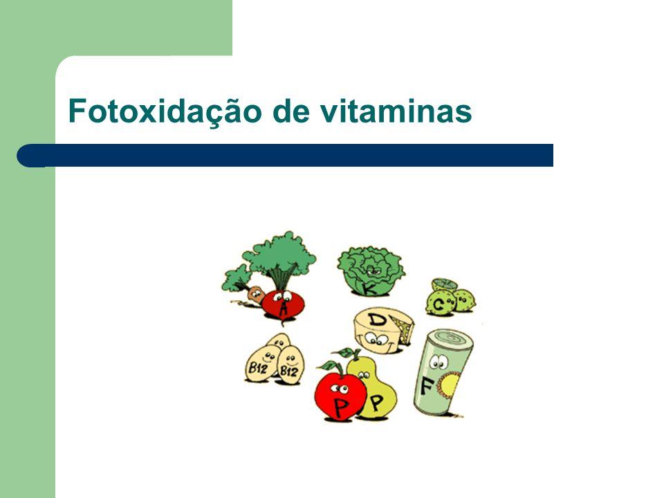 Fotoxidação de vitaminas