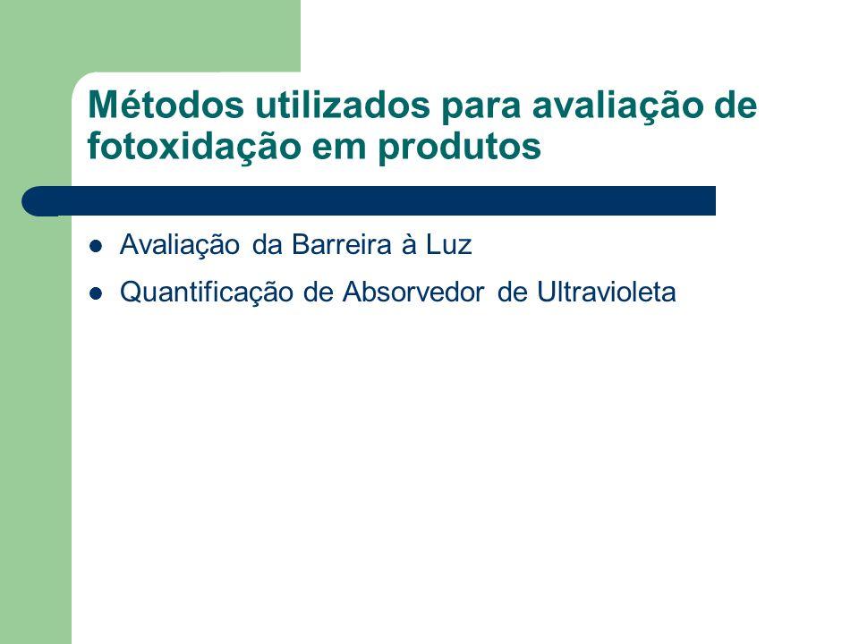 Métodos utilizados para avaliação de fotoxidação em produtos