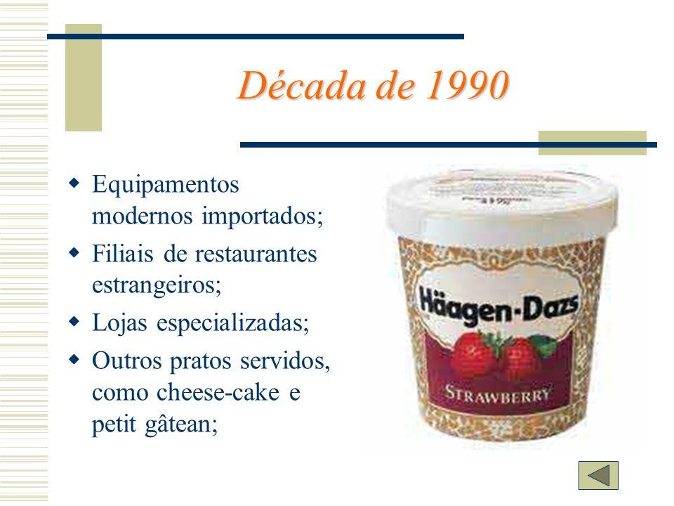 Década de 1990 Equipamentos modernos importados;