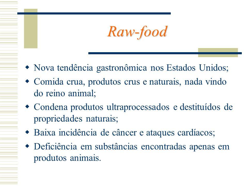 Raw-food Nova tendência gastronômica nos Estados Unidos;